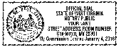 West Virginia Notary Seal<br>Self-Inking Stamp