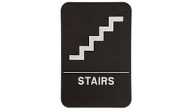 $9.95 Braille ADA STAIRS Signs. Our signs are available in Blue or Black and come with white text &  graphics. Mounting bracket optional.