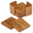Customize one of our coaster sets to meet your exact needs. Choose from wood or ceramic coasters. No minimum order & NO SET UP FEE