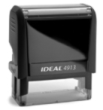 The Ideal self-inking stamps work and feel as great as they look. Just one impression and you will appreciate the ergonomical shape and heavy duty construction.